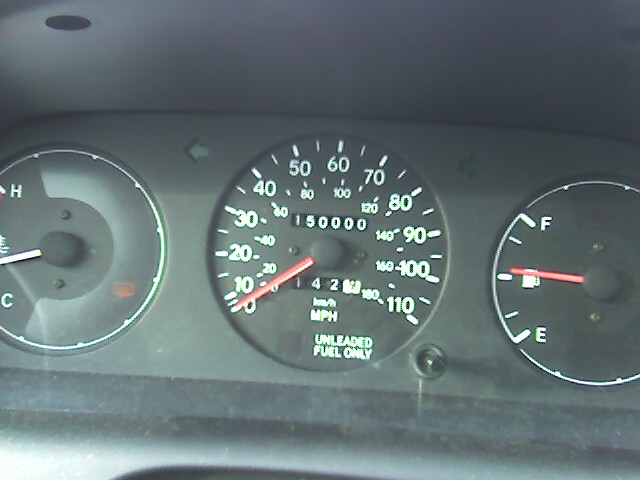 My 1997 Toyota Corolla DX hit 150,000