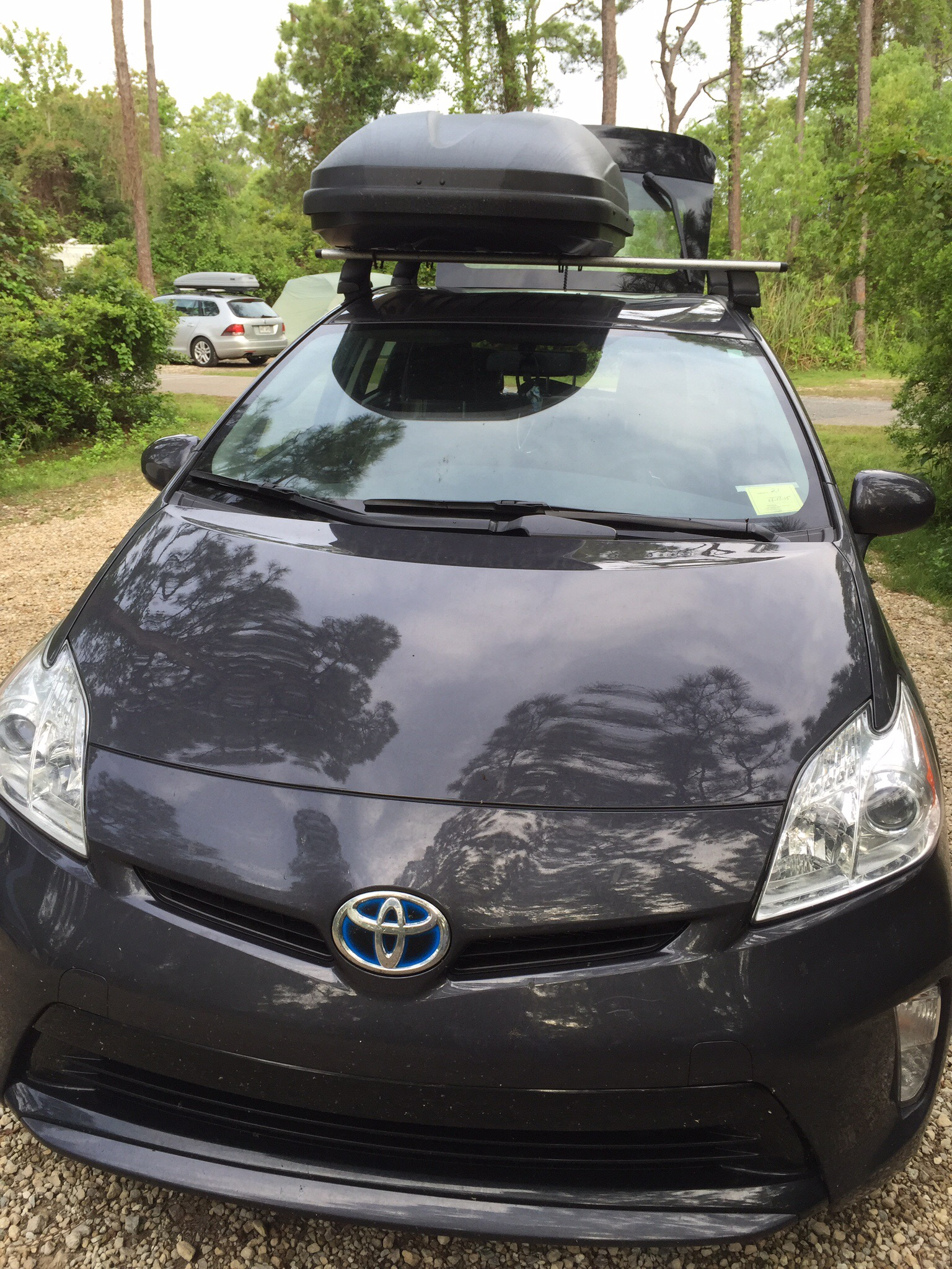 prius gas mileage with thule cargo box