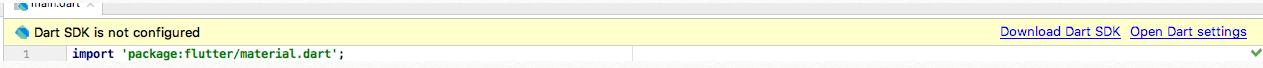 Dart SDF not configured